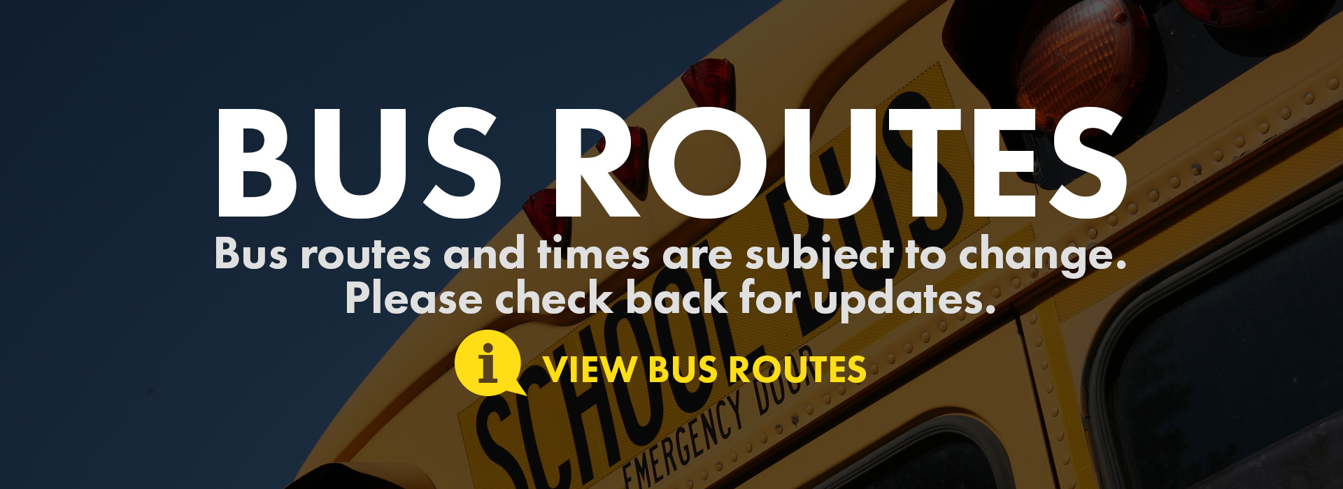 bus routes and times change